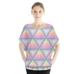 Background Colorful Triangle Blouse
