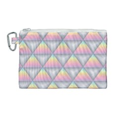 Background Colorful Triangle Canvas Cosmetic Bag (large) by Nexatart