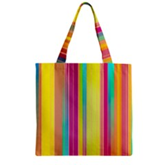 Background Colorful Abstract Zipper Grocery Tote Bag