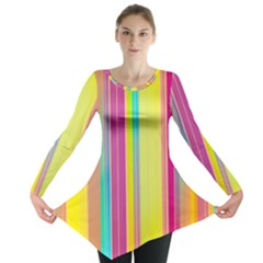 Background Colorful Abstract Long Sleeve Tunic