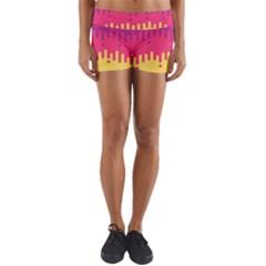 Background Image Yoga Shorts