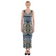 Artworkbypatrick1 10 Fitted Maxi Dress