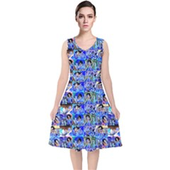 Artworkbypatrick1 12 1 V Neck Midi Sleeveless Dress