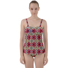 Artworkbypatrick1 13 1 Twist Front Tankini Set