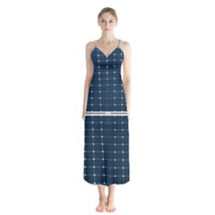 Solar Power Panel Button Up Chiffon Maxi Dress by FunnyCow