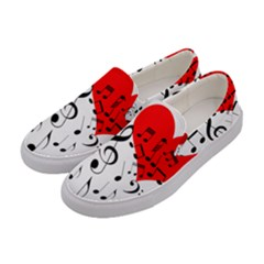 Singing Heart Women s Canvas Slip Ons by FunnyCow