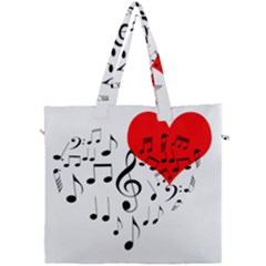 Singing Heart Canvas Travel Bag by FunnyCow