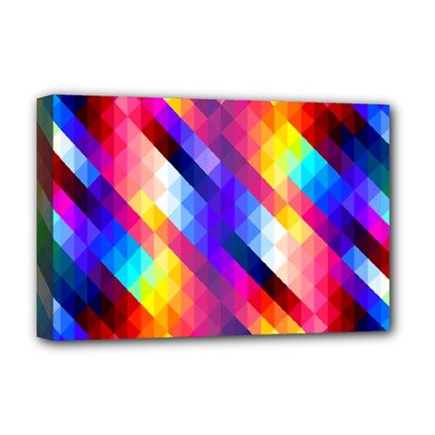 Abstract Background Colorful Pattern Deluxe Canvas 18  X 12