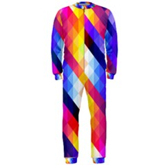 Abstract Background Colorful Pattern Onepiece Jumpsuit (men)