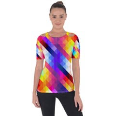 Abstract Background Colorful Pattern Short Sleeve Top