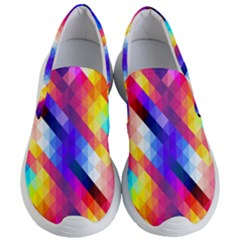 Abstract Background Colorful Pattern Women s Lightweight Slip Ons