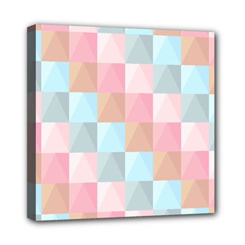 Abstract Pattern Background Pastel Mini Canvas 8  X 8