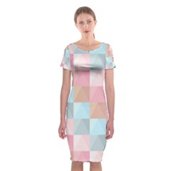 Abstract Pattern Background Pastel Classic Short Sleeve Midi Dress by Nexatart