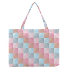 Abstract Pattern Background Pastel Zipper Medium Tote Bag