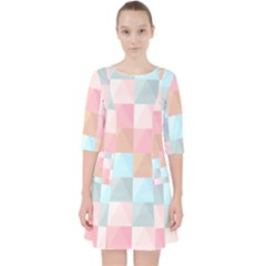 Abstract Pattern Background Pastel Pocket Dress