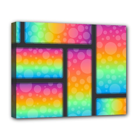 Background Colorful Abstract Deluxe Canvas 20  X 16