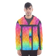 Background Colorful Abstract Hooded Windbreaker (men)