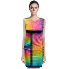 Background Colorful Abstract Classic Sleeveless Midi Dress