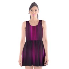 Theater Cinema Curtain Stripes Scoop Neck Skater Dress