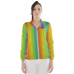 Background Colorful Abstract Windbreaker (women)