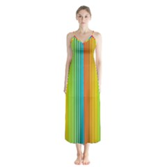 Background Colorful Abstract Button Up Chiffon Maxi Dress