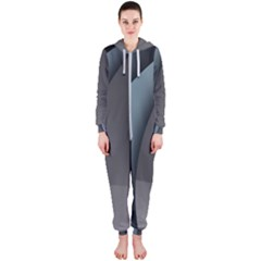 Abstract Background Abstraction Hooded Jumpsuit (ladies)