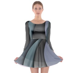 Abstract Background Abstraction Long Sleeve Skater Dress