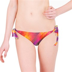 Abstract Background Colorful Pattern Bikini Bottom