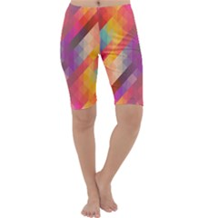 Abstract Background Colorful Pattern Cropped Leggings
