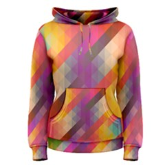 Abstract Background Colorful Pattern Women s Pullover Hoodie