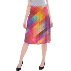 Abstract Background Colorful Pattern Midi Beach Skirt