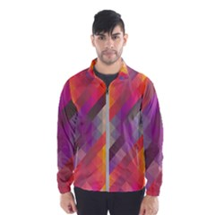Abstract Background Colorful Pattern Windbreaker (men)