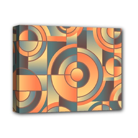 Background Abstract Orange Blue Deluxe Canvas 14  X 11