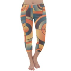 Background Abstract Orange Blue Capri Winter Leggings