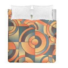 Background Abstract Orange Blue Duvet Cover Double Side (full/ Double Size)