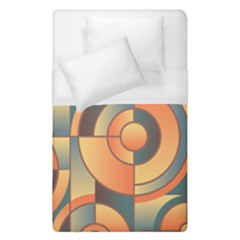 Background Abstract Orange Blue Duvet Cover (single Size)