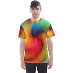 Abstract Spiral Art Creativity Men s Sports Mesh Tee
