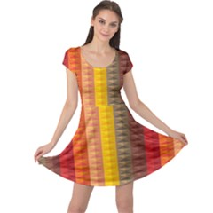 Abstract Pattern Background Cap Sleeve Dress