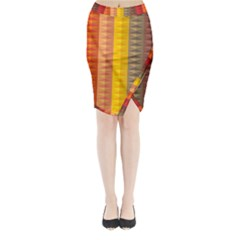 Abstract Pattern Background Midi Wrap Pencil Skirt