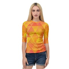 Background Colorful Abstract Quarter Sleeve Raglan Tee