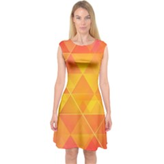 Background Colorful Abstract Capsleeve Midi Dress