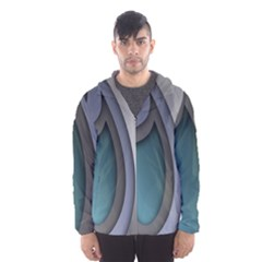 Abstract Background Abstraction Hooded Windbreaker (men)