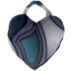 Abstract Background Abstraction Giant Heart Shaped Tote