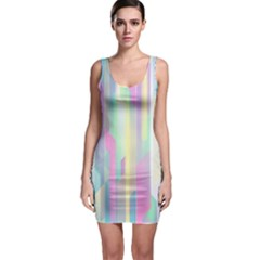Background Abstract Pastels Bodycon Dress