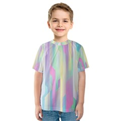 Background Abstract Pastels Kids  Sport Mesh Tee