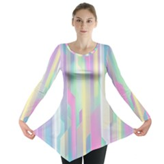 Background Abstract Pastels Long Sleeve Tunic