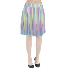 Background Abstract Pastels Pleated Skirt