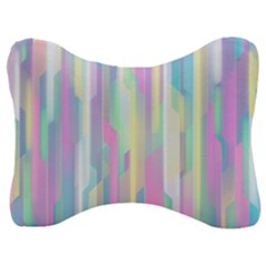 Background Abstract Pastels Velour Seat Head Rest Cushion by Nexatart