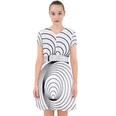 Spiral Eddy Route Symbol Bent Adorable In Chiffon Dress