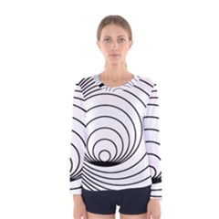 Spiral Eddy Route Symbol Bent Women s Long Sleeve Tee